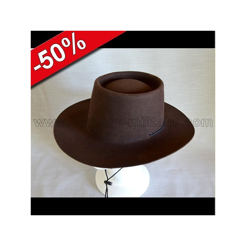 "Hat ""The Cow Puncher"" brown 58  7  1/4"