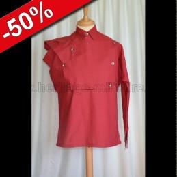 Chemise de bataille rouge mod2 destockage