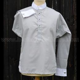 Chemise Victorienne col + bout de manche blanc