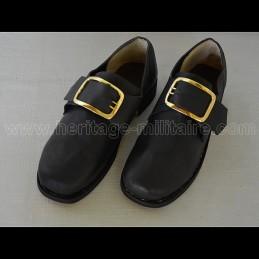 Chaussure époque Napoléonienne cuir lisse