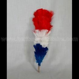 Plumet Bleu Blanc Rouge 30 cm pour shako tige bois