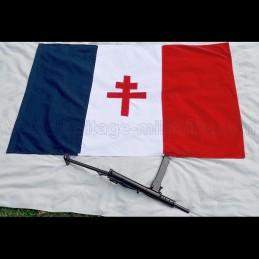 Drapeau de la France libre 1940 - 1943 150cm x 90cm COTON