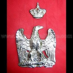 Aigle et couronne de sabretache argentée