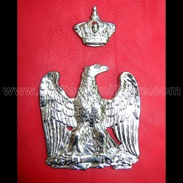 Eagle and crown sabretache silver