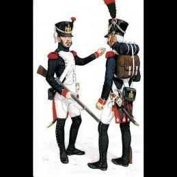 """Habit veste infanterie 1808 """"Fusiliers Chasseur"""" Napoléon 1er"""