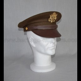Casquette d'officier US OD green WWII