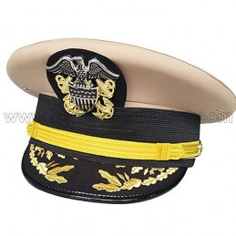 "Admiral Officer's Cap USN Captain / Comander ""winter"" WWII"