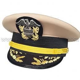 Casquette officier Capitaine /Commandant USN tenue d'hiver WWII