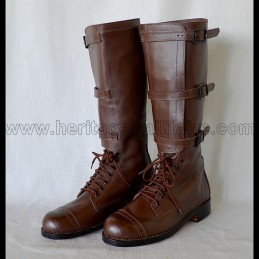 "US Mod 1900 Military Cavalry Boots ""Brown"""