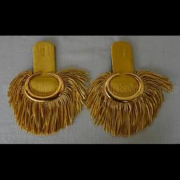 Épaulettes d'officier de parade dorées à franges USA