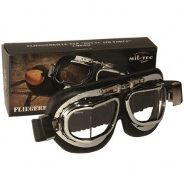 Chrome aviator goggles
