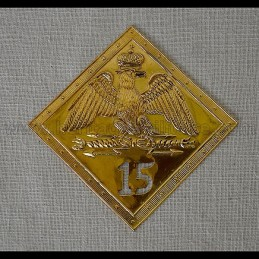 Plaque de shako 1806 - 1810 avec N°15