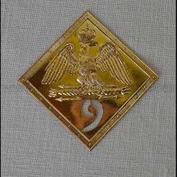 Plaque de shako 1806 - 1810 avec N°9