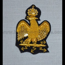 Golden embroidered eagle for turn-up for frock coat