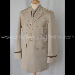 """WWII US Officer dress Tunic """"CHINO"""" Pacific"""