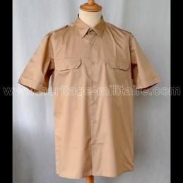 Chemise militaire twill beige manche courte