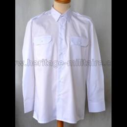 Chemise militaire twill blanche manche longue