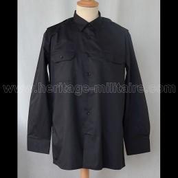 Chemise militaire twill noire manche longue