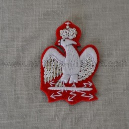 White embroidered eagle for turn-up for frock coat