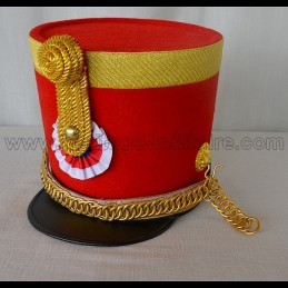 "Shako Officer 4th Hussard ""Chef d'escadron"" Napoleon 1st"