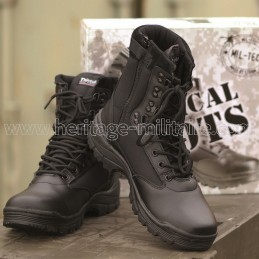 Tactical boots 1 zip black