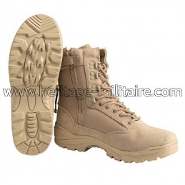 Tactical boots 1 zip sand