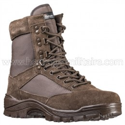 Tactical boots 1 zip brown