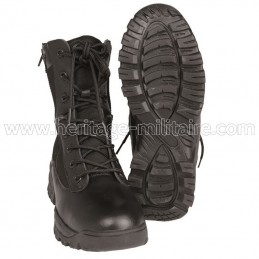 Tactical boots 2 zips black
