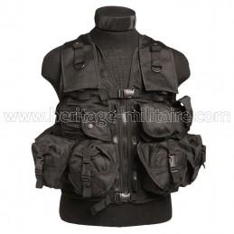 Tactical vest 9 pockets black