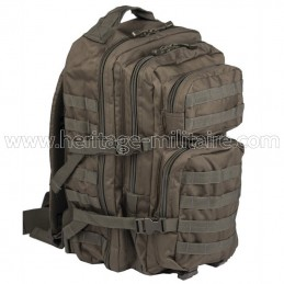 US assault backpack OD green