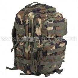 US assault backpack woodland