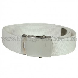 US belt 100% cotton white