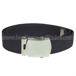 US belt 100% cotton navy blue