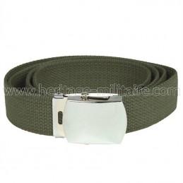 US belt 100% cotton OD green