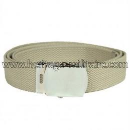 US belt 100% cotton sand