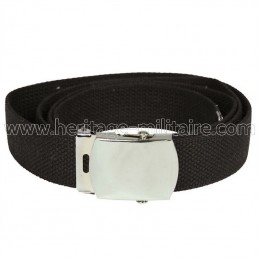US belt 100% cotton black