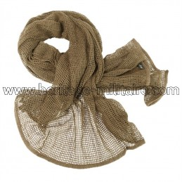 Net scarf dark coyote