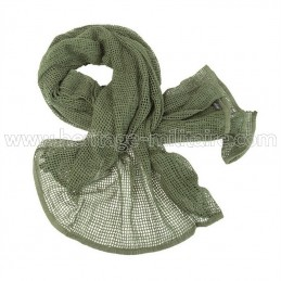 Net scarf OD green