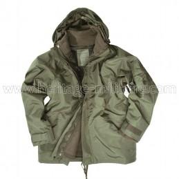 Rain jacket with fleece...