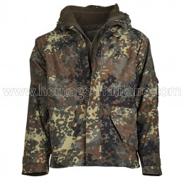 Rain jacket with fleece...