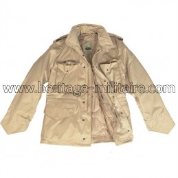 Jacket US M65 with lining sand