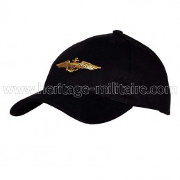 Baseball cap Navy pilot black