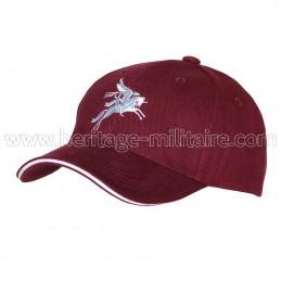 Baseball cap Pegasus maroon