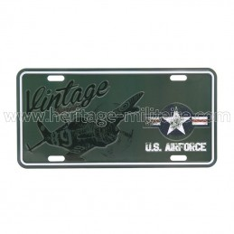 License plate US Air Force