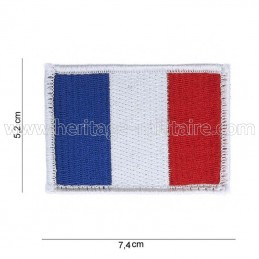 Patch French flag with velcro