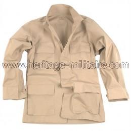 Jacket US BDU ripstop sand