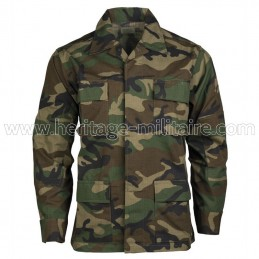 Jacket US BDU ripstop woodland