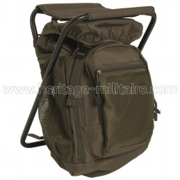 Backpack with stool OD green