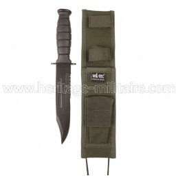 Combat knife with sheath OD...