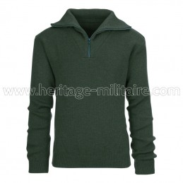 Troyer sweater wool OD green